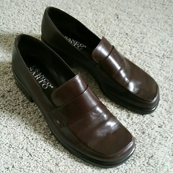 0e5a2d8b46d Franco Sarto Shoes - Franco Sarto brown leather flex loafer. 7.5